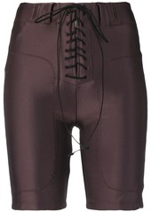 Ben Taverniti Unravel Project lace-up cycling shorts