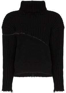 Ben Taverniti Unravel Project hybrid zip detail jumper