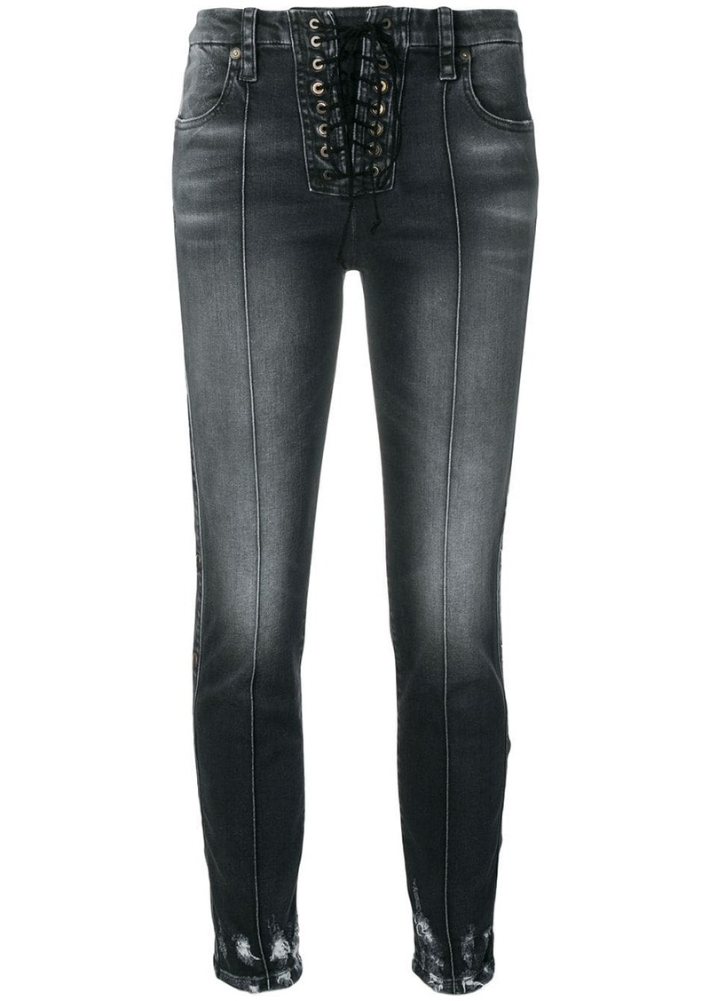 Ben Taverniti Unravel Project lace-up jeans