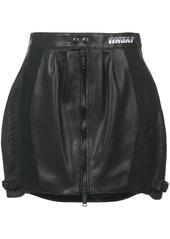 Ben Taverniti Unravel Project perforated mini skirt