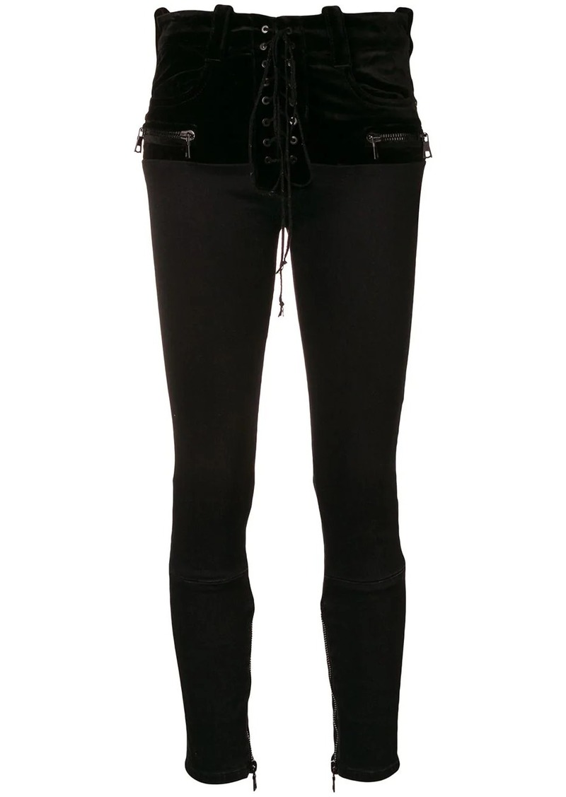 Ben Taverniti Unravel Project front fastened skinny jeans