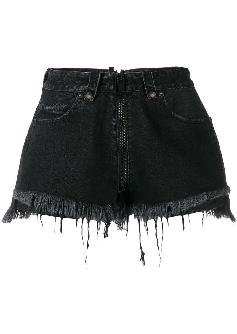 Ben Taverniti Unravel Project ripped denim shorts