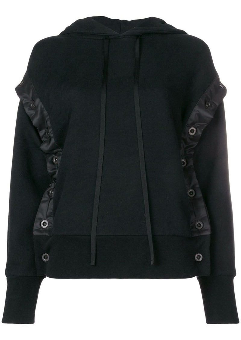Ben Taverniti Unravel Project shell trim hoodie