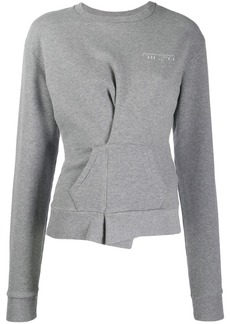 Ben Taverniti Unravel Project wrap detail sweatshirt