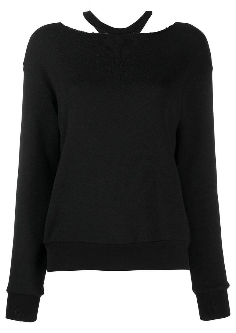 Ben Taverniti Unravel Project loose-fit cut-out jumper