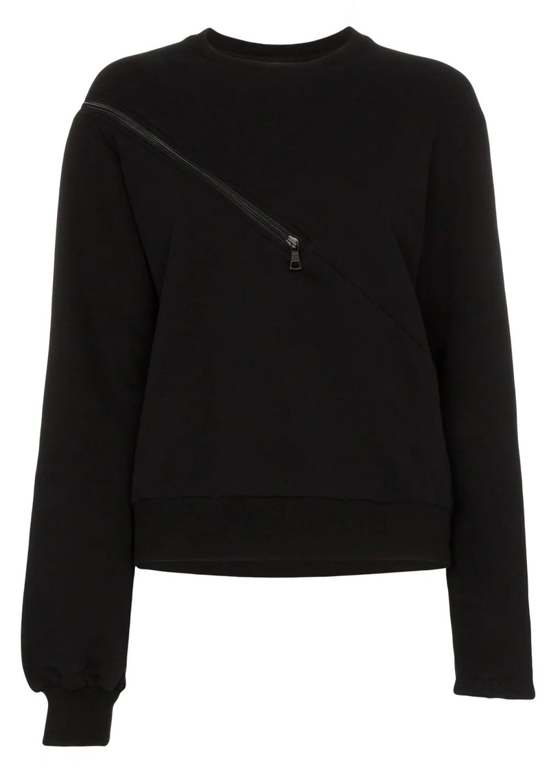 Ben Taverniti Unravel Project tonal zip-detail sweatshirt