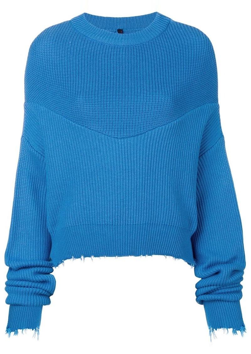 Ben Taverniti Unravel Project long-sleeve draped sweater