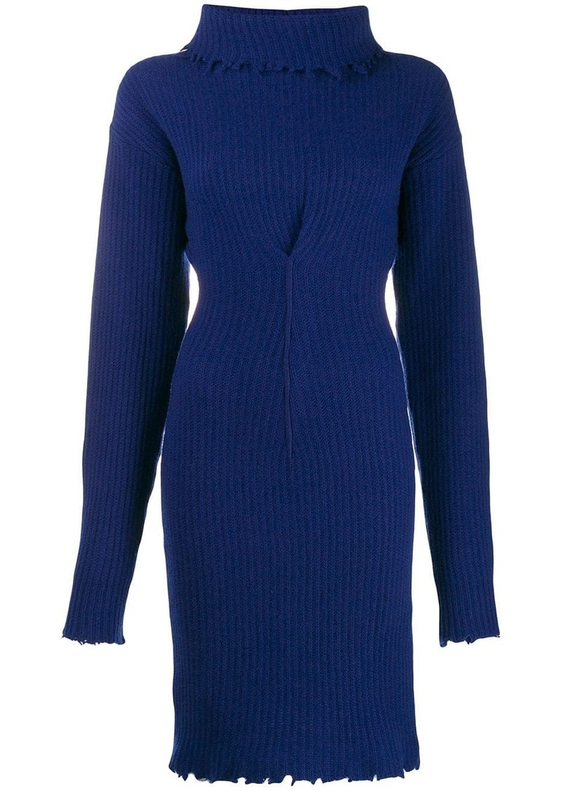Ben Taverniti Unravel Project roll neck knitted dress