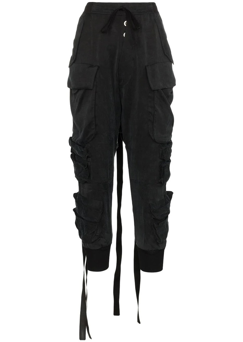 Ben Taverniti Unravel Project dropped-waist trousers