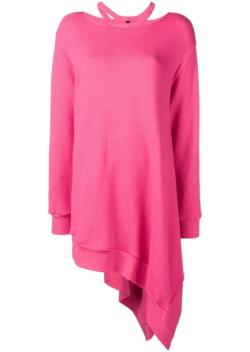 Ben Taverniti Unravel Project asymmetrical cutout sweatshirt