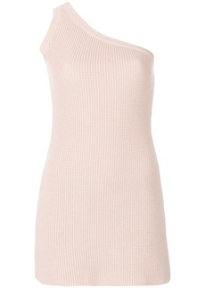 Ben Taverniti Unravel Project one-shoulder knit dress