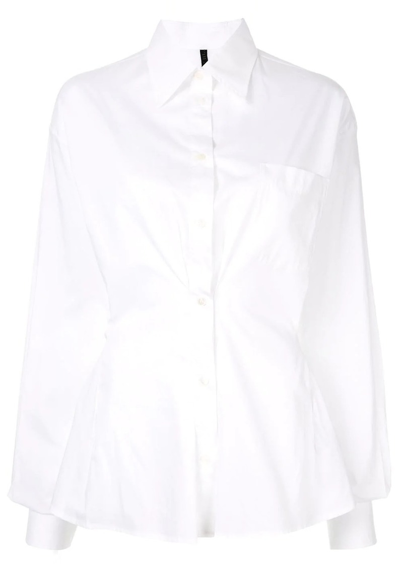 Ben Taverniti Unravel Project ruched detail shirt