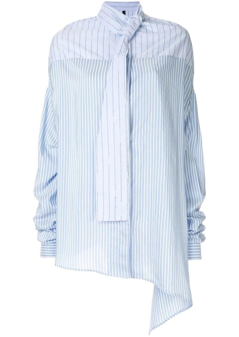 Ben Taverniti Unravel Project oversized asymmetric blouse