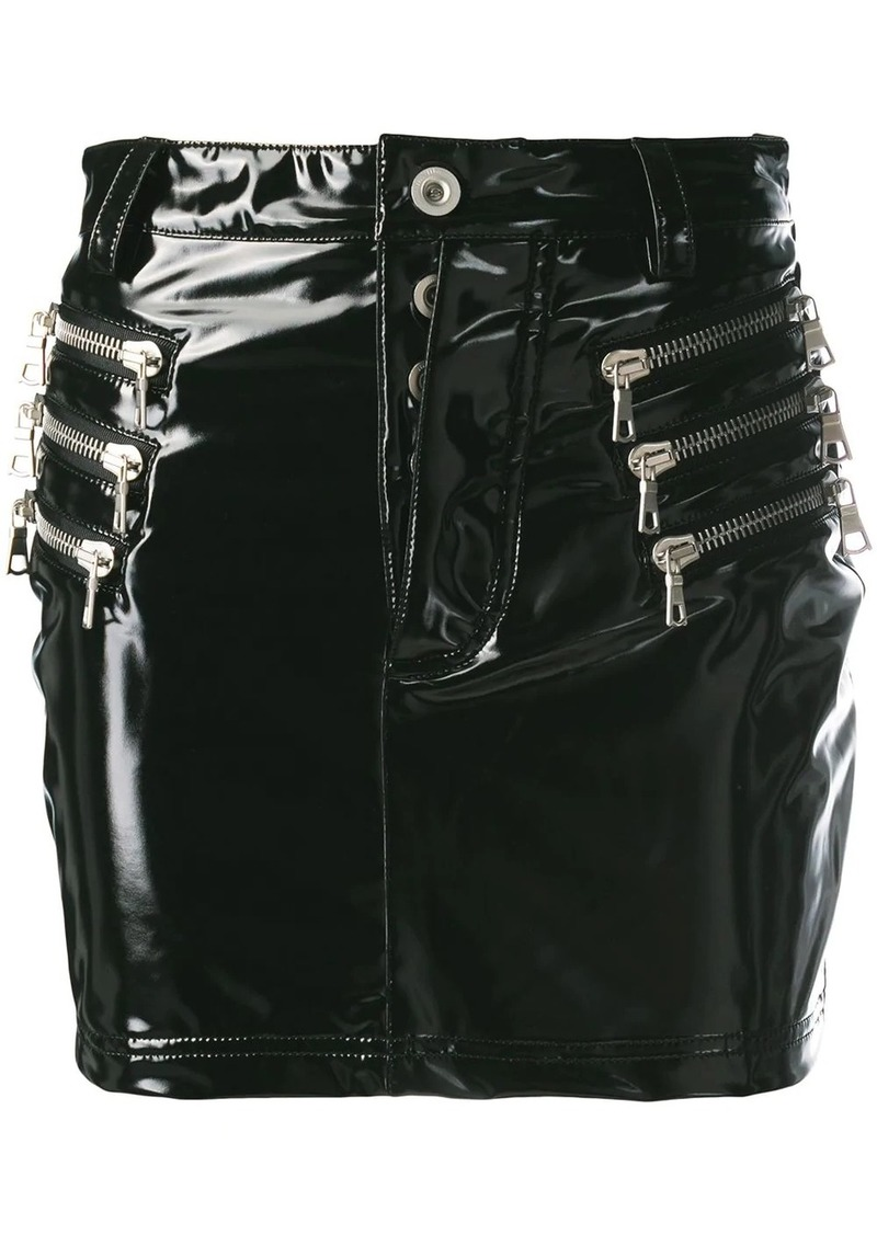 Ben Taverniti Unravel Project latex mini skirt