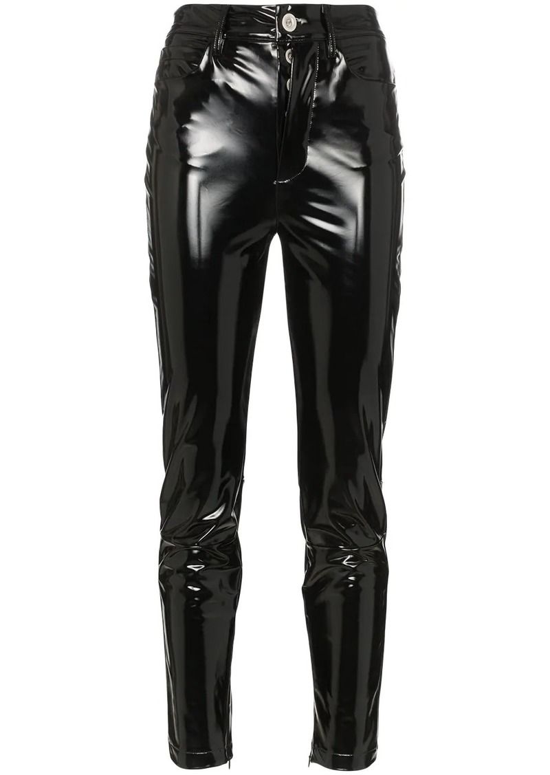 Ben Taverniti Unravel Project high waisted skinny latex jeans