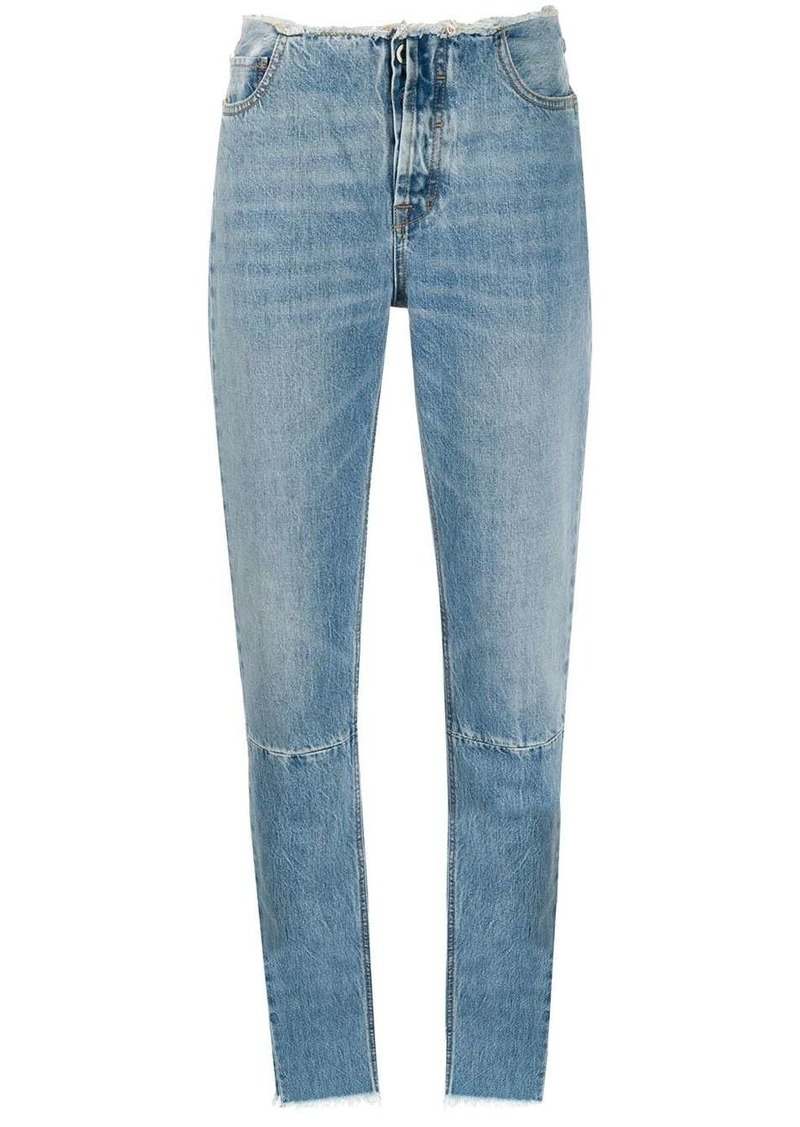 Ben Taverniti Unravel Project frayed detail slim jeans