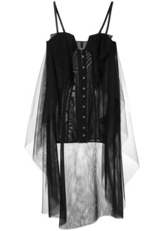 Ben Taverniti Unravel Project layered corset dress