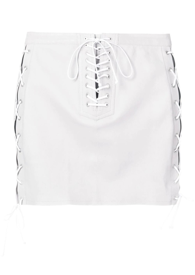 Ben Taverniti Unravel Project lace-up skirt