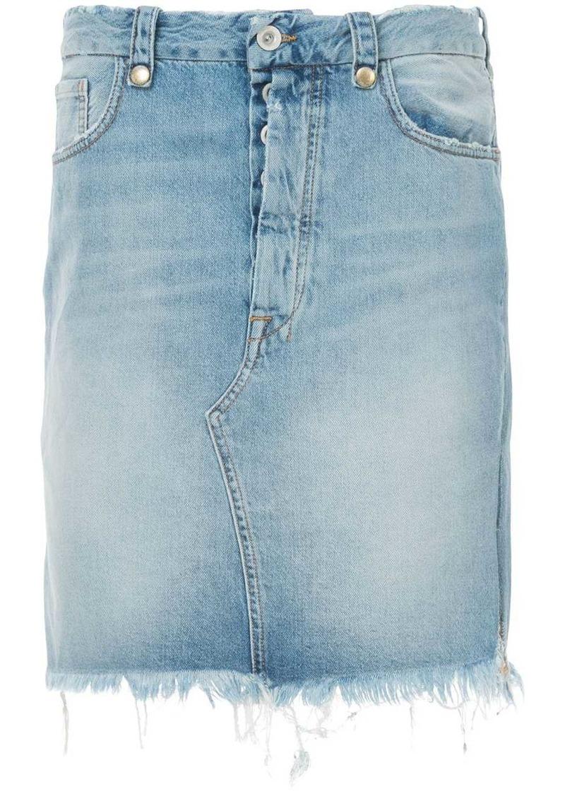 Ben Taverniti Unravel Project frayed denim skirt