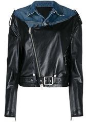 Ben Taverniti Unravel Project fabric mix jacket
