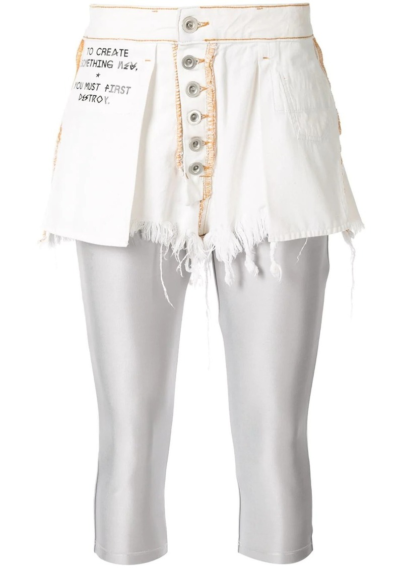 Ben Taverniti Unravel Project button-up shorts