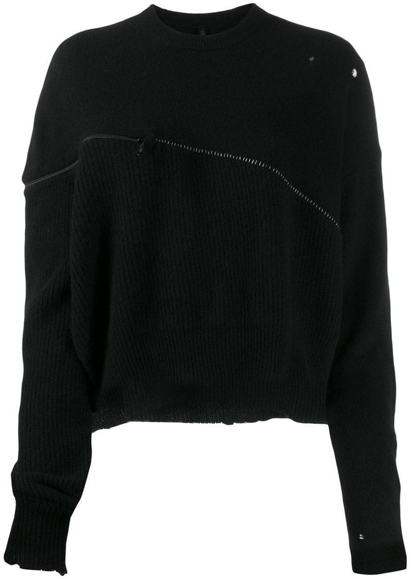 Ben Taverniti Unravel Project oversized zipped jumper
