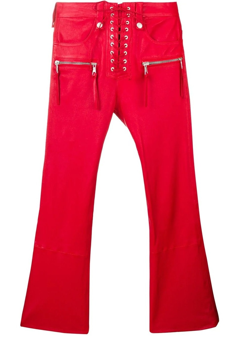 Ben Taverniti Unravel Project cropped leather trousers