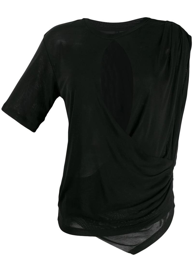Ben Taverniti Unravel Project draped T-shirt