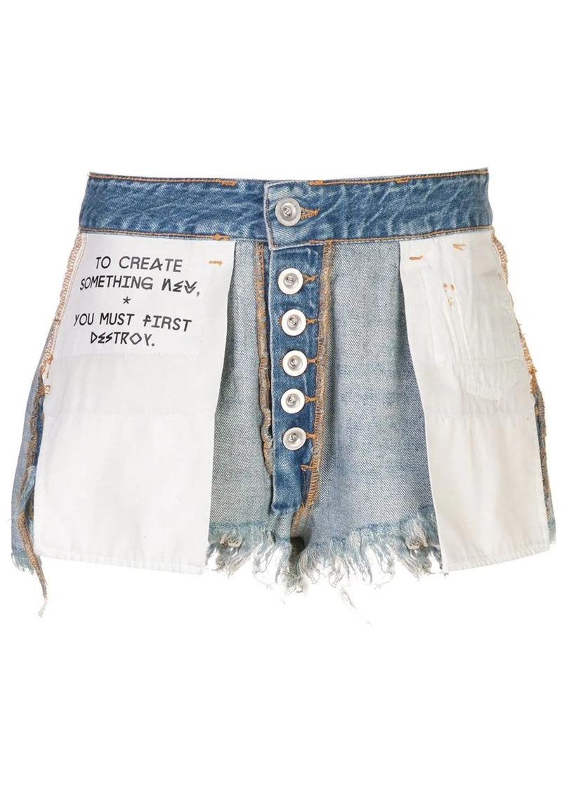 Ben Taverniti Unravel Project destroyed denim shorts