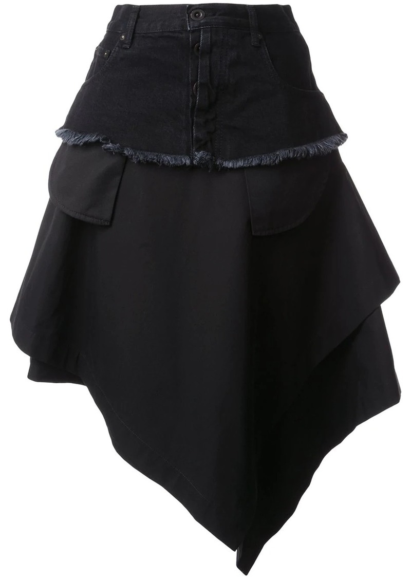 Ben Taverniti Unravel Project asymmetric loose skirt