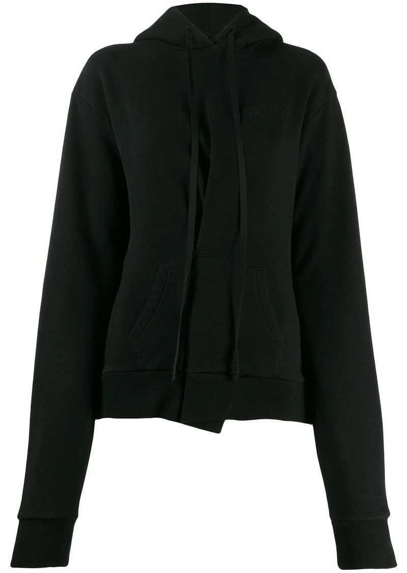 Ben Taverniti Unravel Project asymmetric pleat hoodie