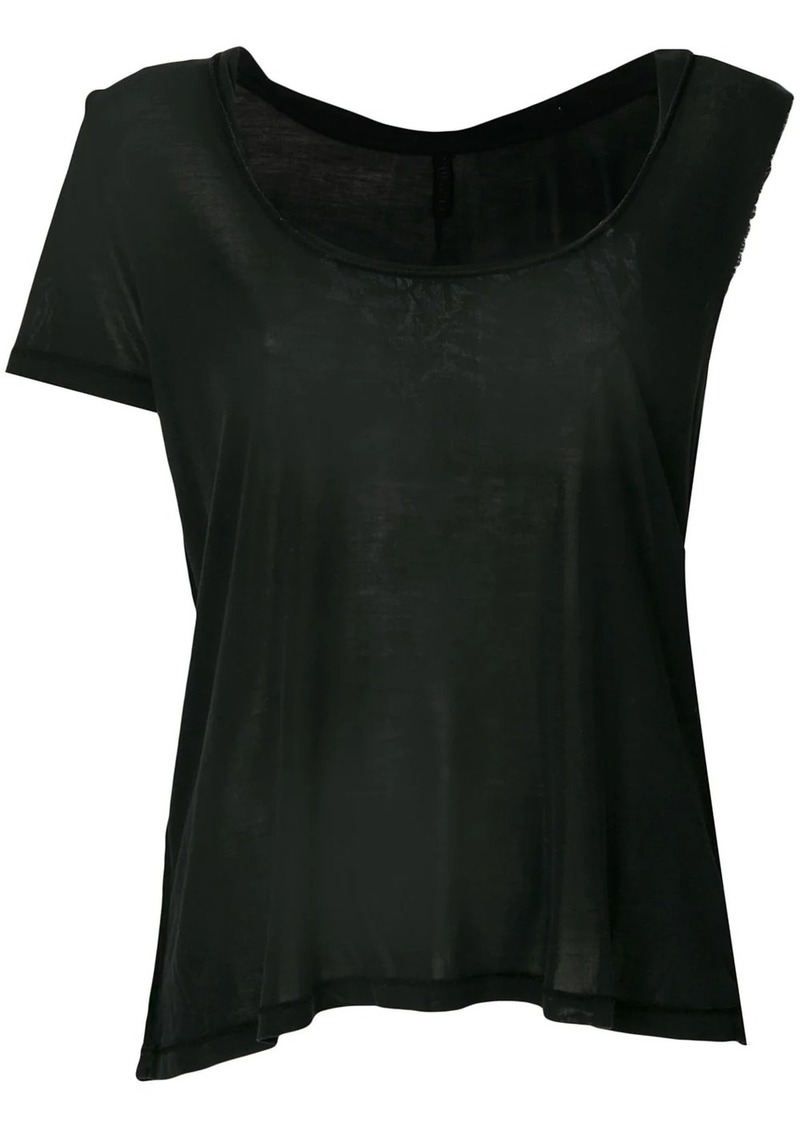 Ben Taverniti Unravel Project asymmetric sleeve twisted scoop neck tank