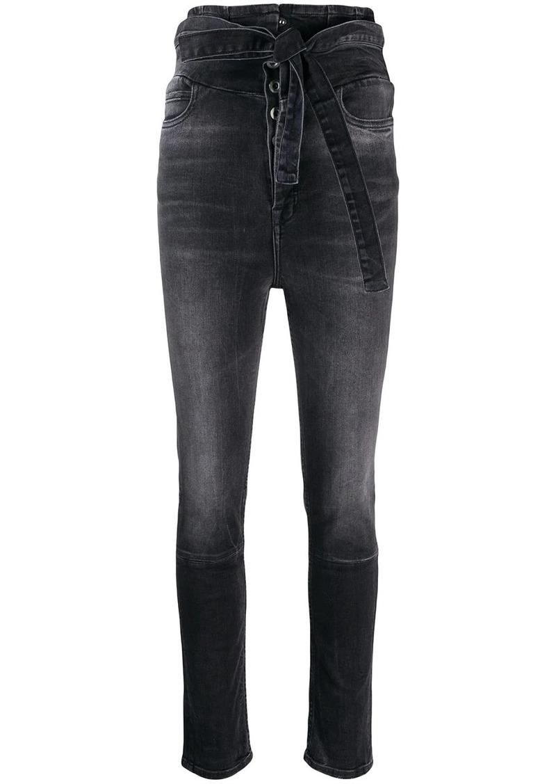 Ben Taverniti Unravel Project belted skinny jeans