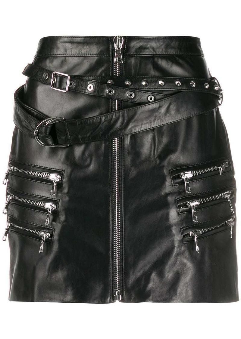 Ben Taverniti Unravel Project buckled mini skirt