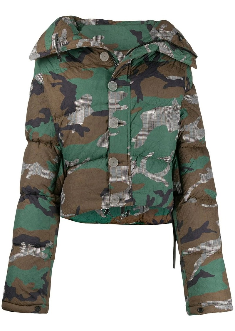Ben Taverniti Unravel Project camouflage print puffer jacket