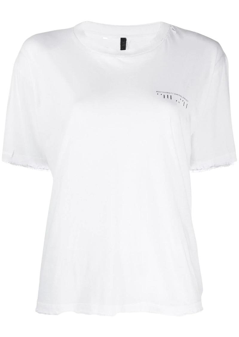 Ben Taverniti Unravel Project contrasting print T-shirt