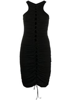 Ben Taverniti Unravel Project cut-detail fitted dress