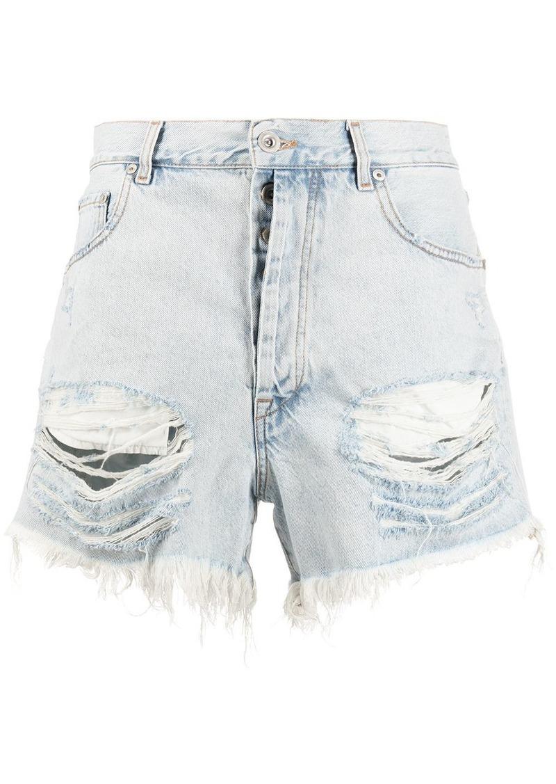 Ben Taverniti Unravel Project distressed denim shorts