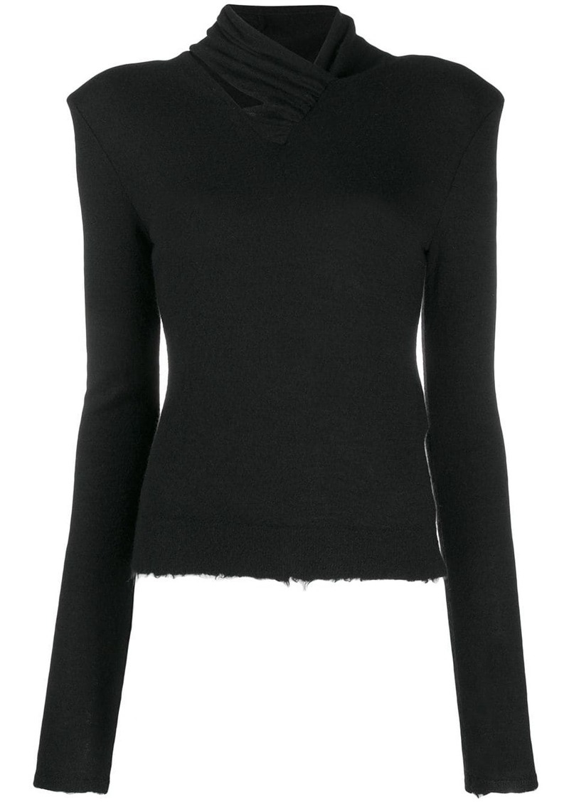 Ben Taverniti Unravel Project distressed knitted jumper