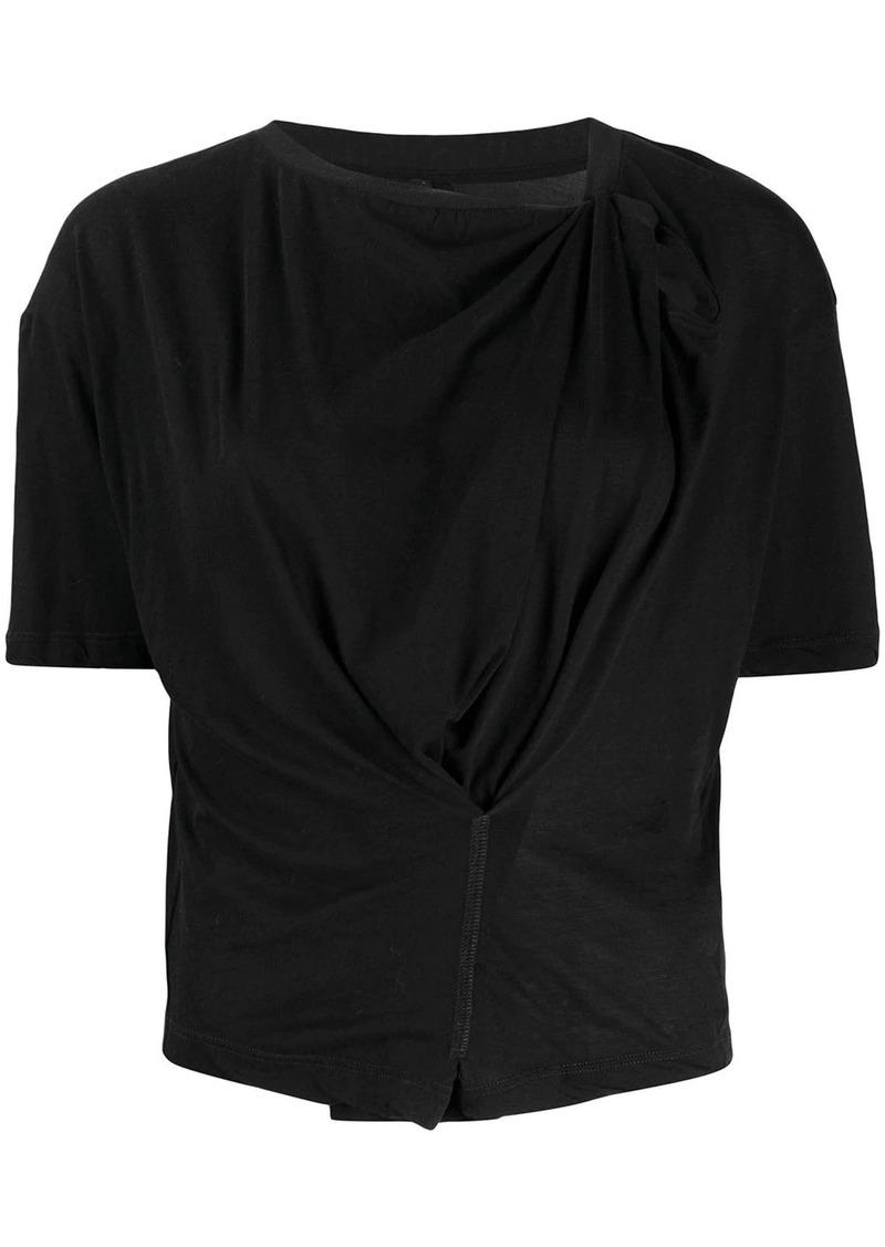 Ben Taverniti Unravel Project draped style t-shirt