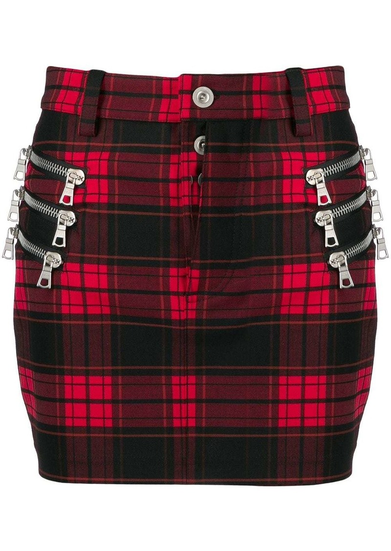 Ben Taverniti Unravel Project fitted checked skirt