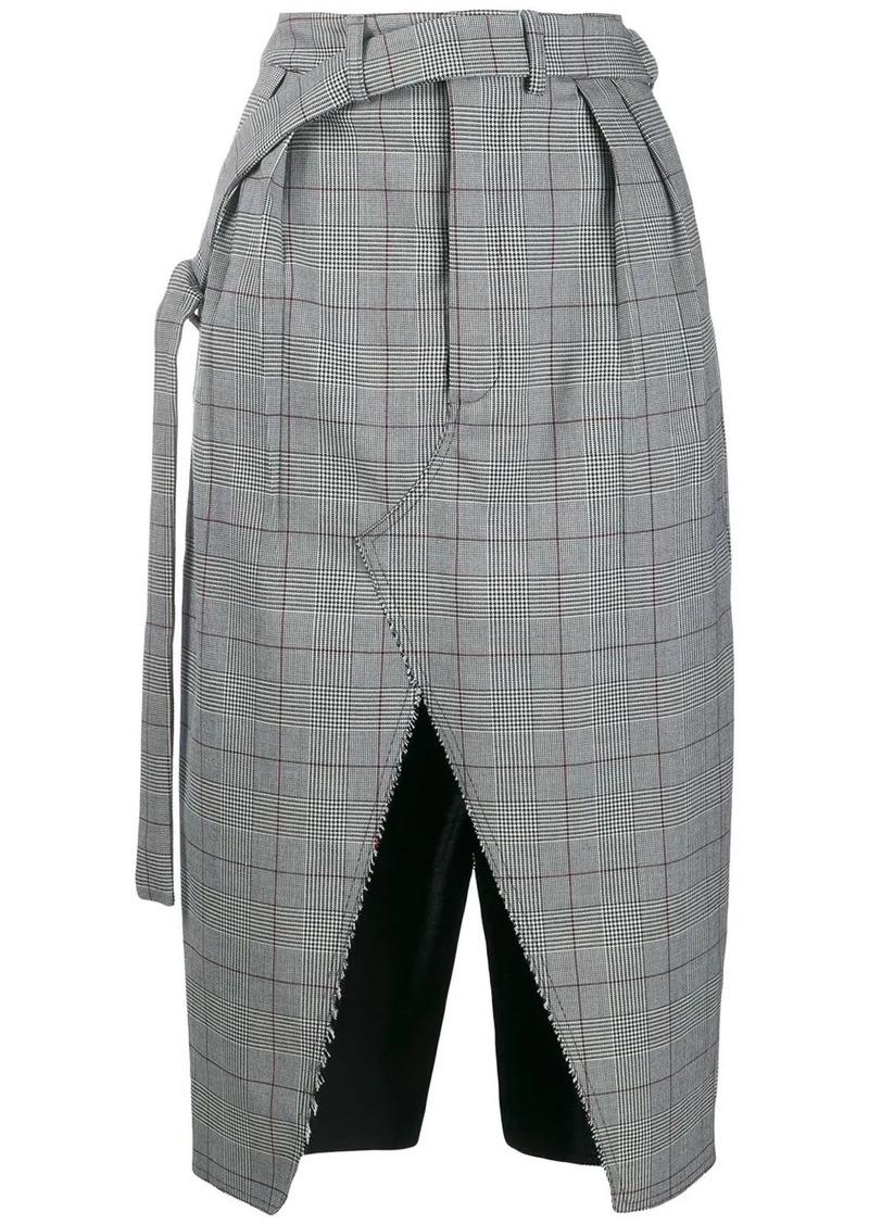 Ben Taverniti Unravel Project front slit skirt