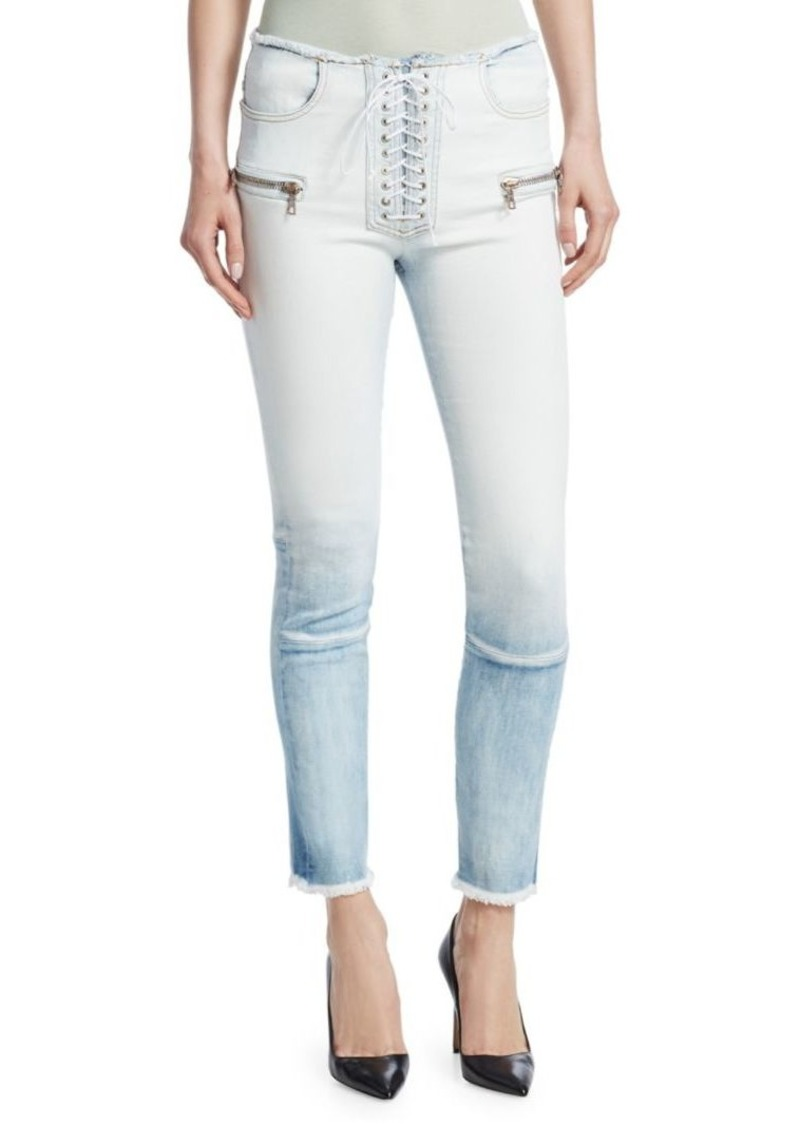 Ben Taverniti Unravel Project Gradient Lace-Up Skinny Jeans