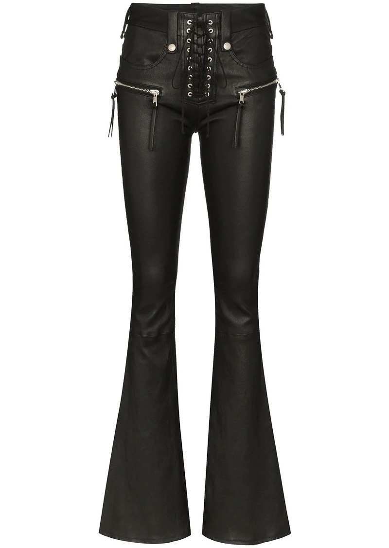 Ben Taverniti Unravel Project high waist flared trousers