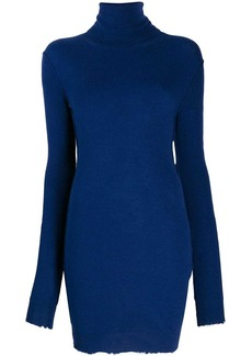 Ben Taverniti Unravel Project knitted roll neck dress