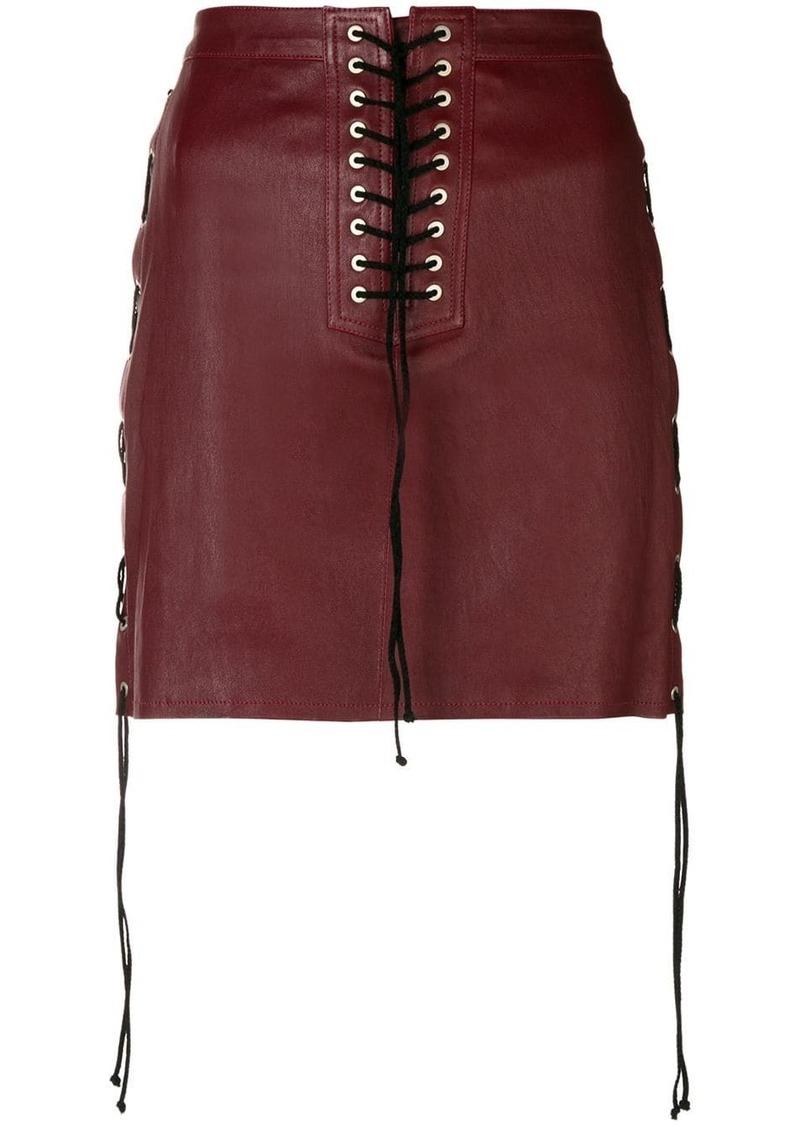 Ben Taverniti Unravel Project lace-up detail skirt