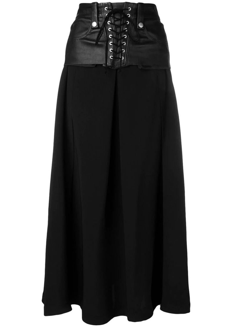 Ben Taverniti Unravel Project lace up skirt