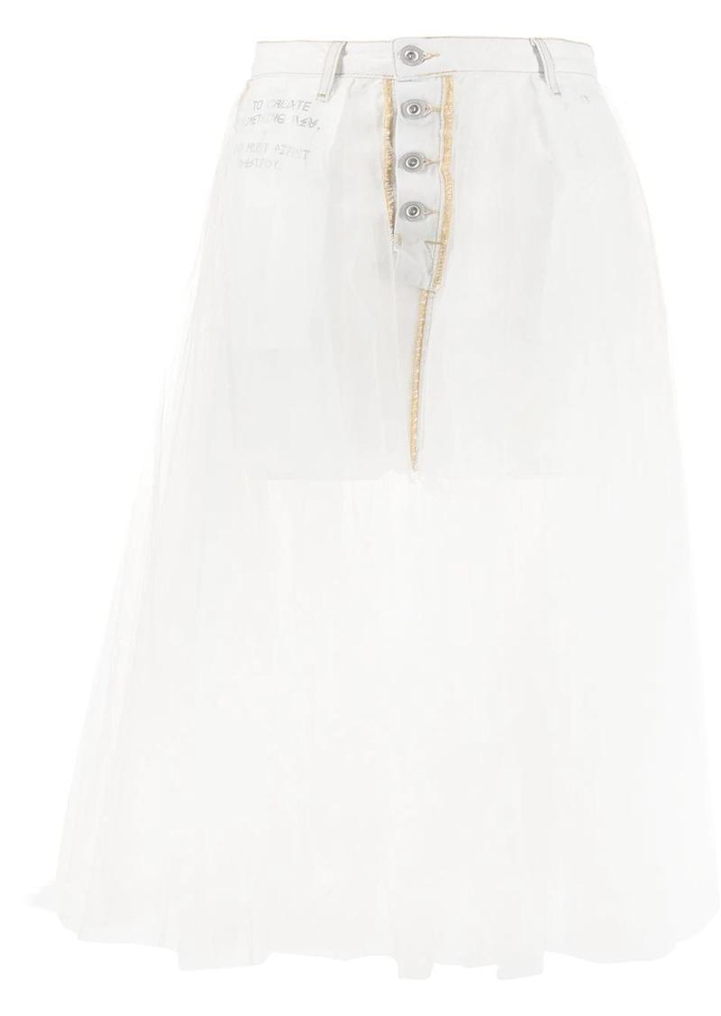 Ben Taverniti Unravel Project layered denim skirt