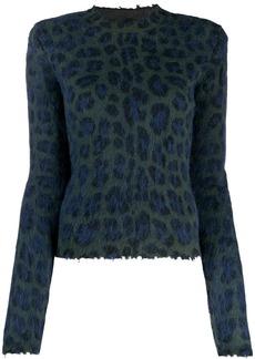Ben Taverniti Unravel Project leopard print sweater