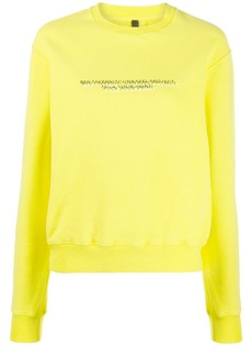 Ben Taverniti Unravel Project logo jersey sweatshirt